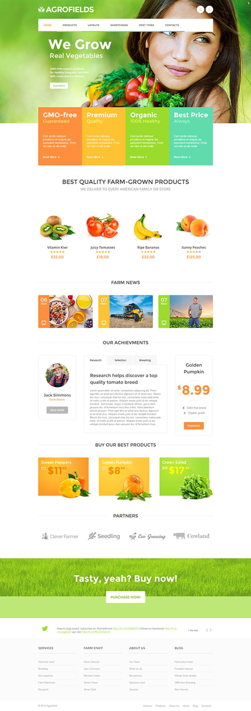 Organik Tarım Çiftlik Web Sitesi Örnekleri agro