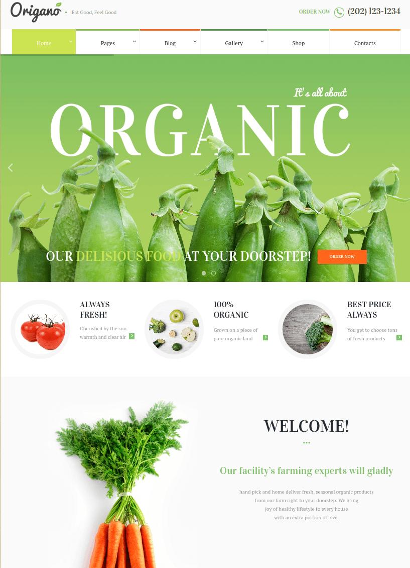 Organik Tarım Çiftlik Web Sitesi Örnekleri origano