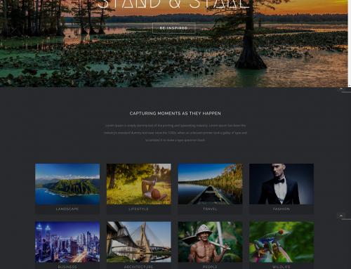 Fotoğrafçı Web Sitesi Örneği