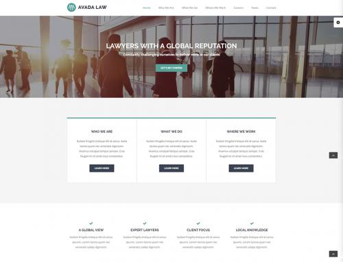 Avukatlık Web Sitesi Örneği