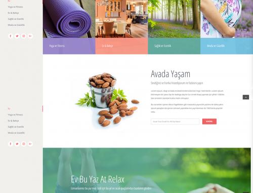 Blog Web Sitesi Örneği Yaşam Tarzı
