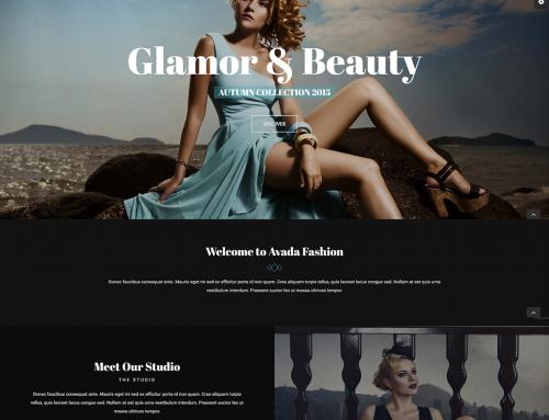 Moda Tasarım Web Sitesi Örneği